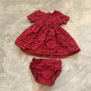 Other - 3 month maroon dress